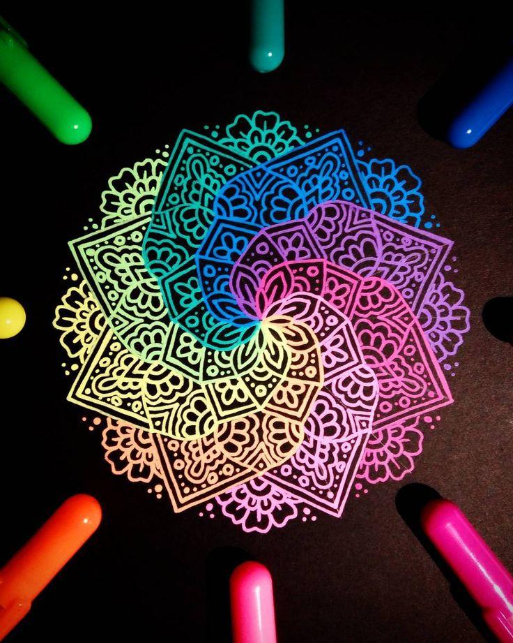 """1,541 Likes, 33 Comments - Ísól Lilja (@drawing_in_ice) on Instagram: """"I don't have anything new to post so here's another photo of the rainbow mandala that I drew last…"""""""