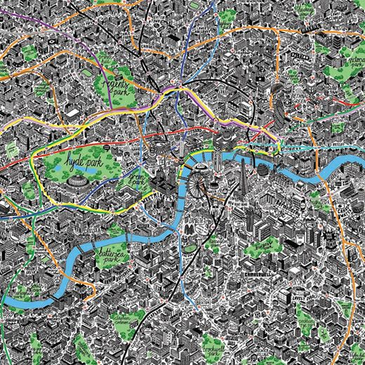 Hand Drawn Map of London / jenni sparks