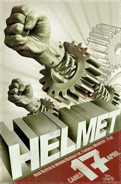 HELMET - Gig poster