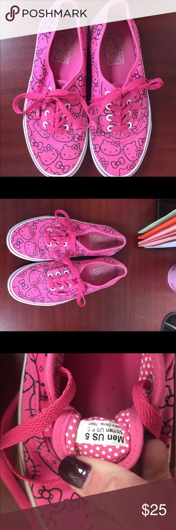 Hello kitty vans Excellent used condition Hello Kitty Shoes Sneakers