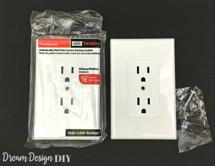 Easy Electrical Outlet Cover . These outlet covers create a uniform, modern appearance and save time on labor. Instead of having to uninstall and unwire the old outlets, then install and rewire new outlets these covers fit right over the existing electrical outlets. These retail for around $2.25 each.