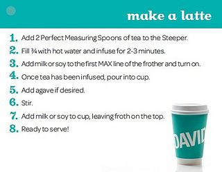 How to make a David's Tea Latte
