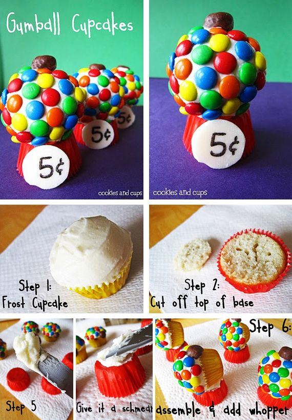 Gumball Cupcakes party cupcake cupcakes party ideas party favors party decorations party fun party idea pictures gumball diy diy food diy recipes