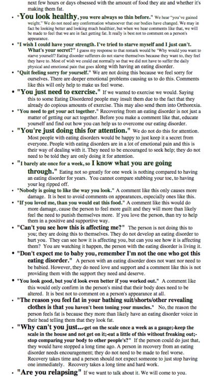 anorexia how to help a loved one