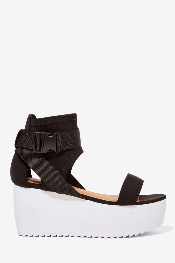 Nasty Gal Modern Love Neoprene Flatform | Shop Shoes at Nasty Gal