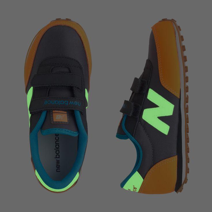 Kids' New Balance® for crewcuts glow-in-the-dark KE410 velcro® sneakers in navy : new balance for crewcuts | J.Crew