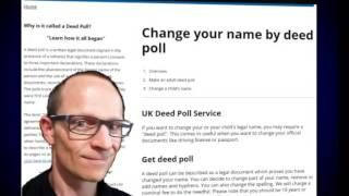 http://www.deedpoll.ltd.uk Title - How does a Deed Poll work? The deed poll for a change of name by the person must contain three declarations. Once the poll has been signed, dated, stamped and duly verified by a witness, the signee is expected to act in accordance with the declarations stated in the deed. These declarations state that the person has signified their consent to:  Abandoning the use of their former name for all practical purposes  Using a new name, as stated in the deed, for…