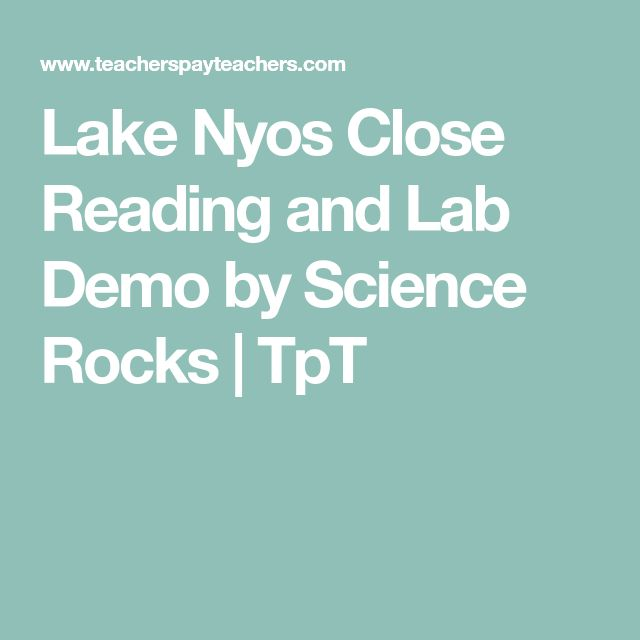 Lake Nyos Close Reading and Lab Demo by Science Rocks | TpT