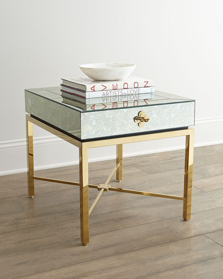 mirrored side table