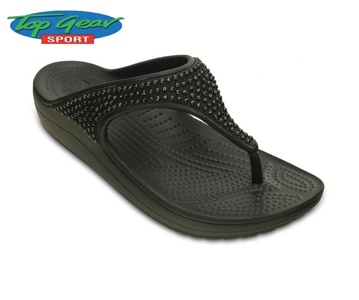 Every lady needs a pair of flip flops. Get a pair of these comfortable #Crocs Sloane flip-flops, available from #TopGearSport.