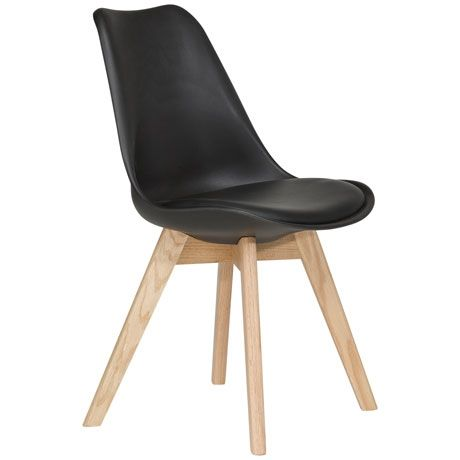 Freedom - Brandon Dining Chair  Black/Oak $169 (also available in white/light blue/white)