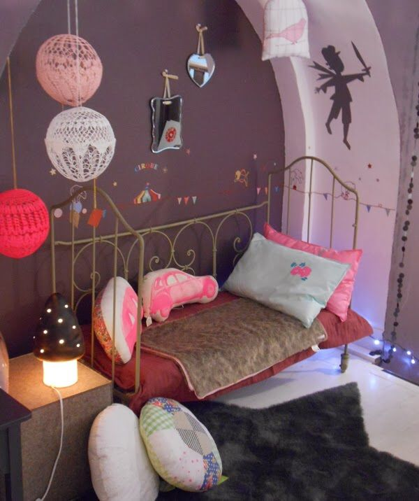 Lit fer forge girls bedroom pinterest lit - Lit fer forge 1 personne ...