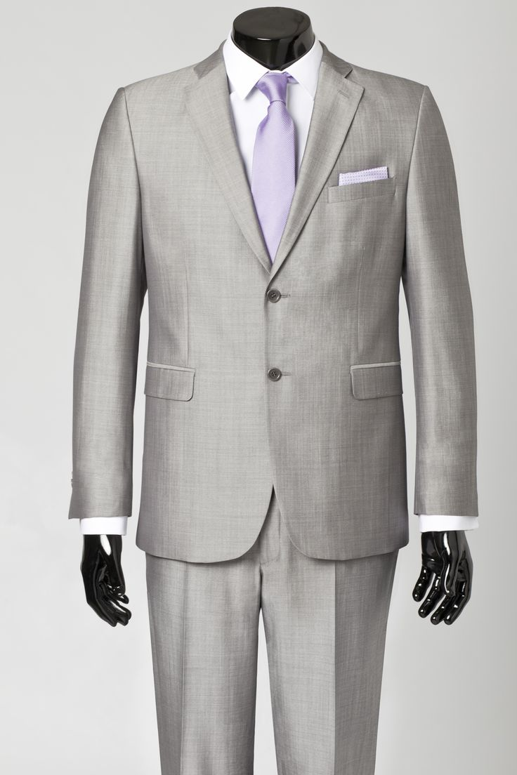 Grey Suit With Two Pockets Two Buttons With White Shirt