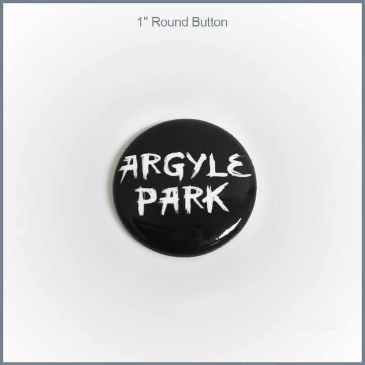 "Argyle Park - 1"" Round Button"