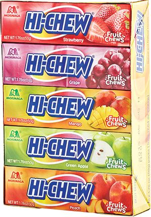 Hi-Chew candies taste just like Starbursts but they contain No Artificial Dyes so they will keep your child happy but not hyper.  #additudemag #adhdplate