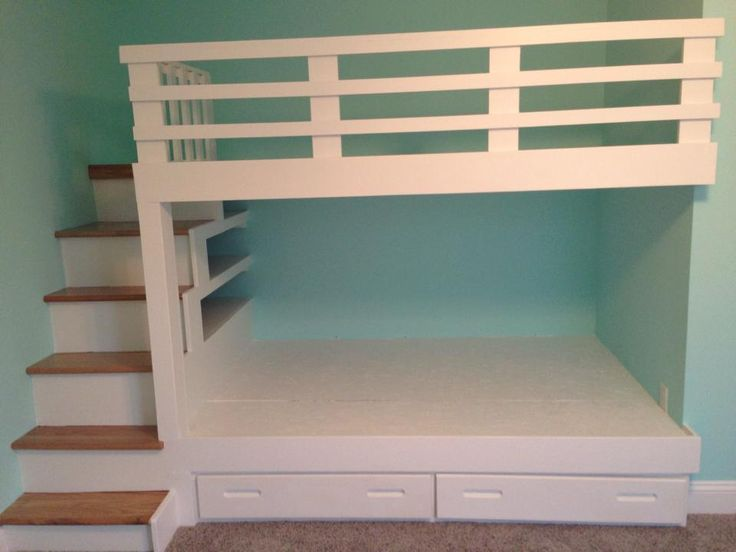 Our Board Member created these bunk beds from items he found in the ReStore! #ReStore #WhyReStore #DIY