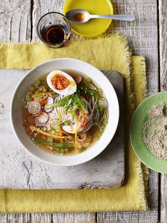 Clear Asian noodle soup with prawns | Jamie Oliver