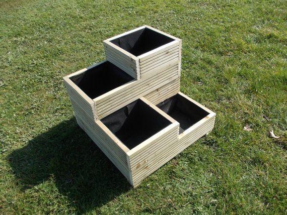 Large Wooden Planter / Decking Planter / Stacked planter /