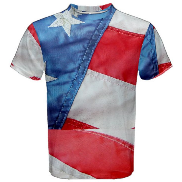 Folded+American+Flag+Men's+Sport+Mesh+Tee