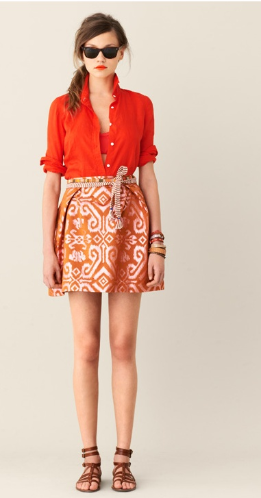 I love this outfit from j. crew...fun colors and perfect for traveling!