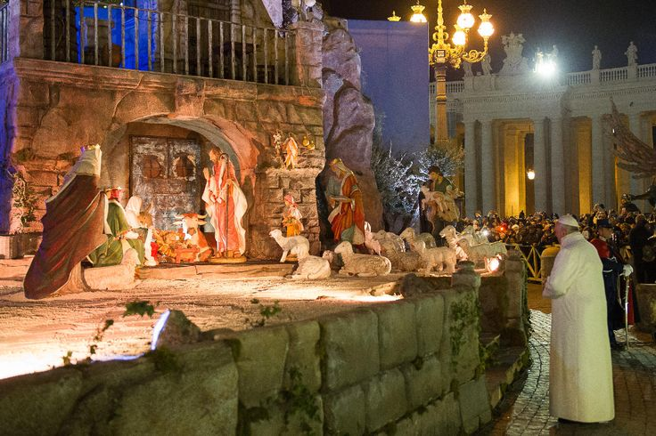 "For the Christmas 2014 Season, Fontanini was honored by having their beautiful 50"" Nativity at the Vatican for the Pope and other to view!"