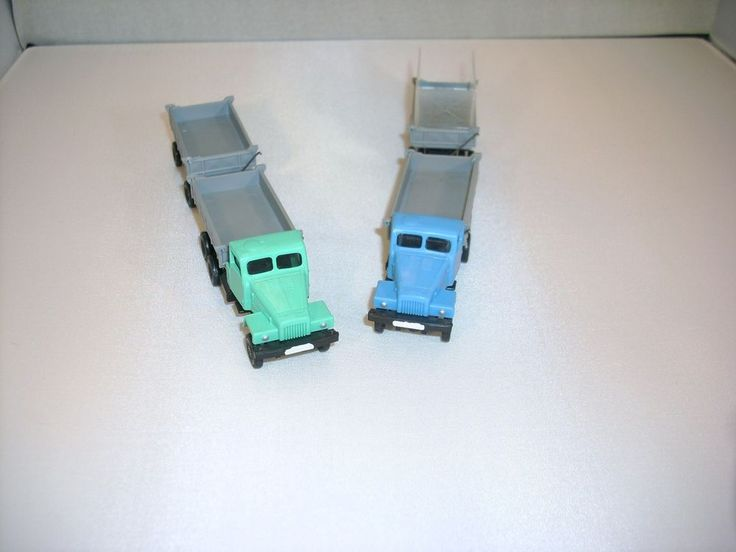 2 St DDR Modellauto LKW G5 Pritsche mit Anhänger für H0-Bahn
