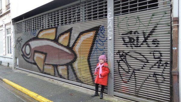Excursion à Lille : grafitti près de la Rue Gambetta