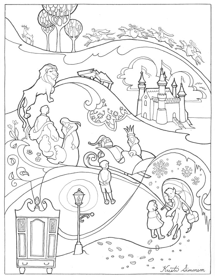 "Narnia Coloring Sheet ""A Journey Through 'The Lion, the"