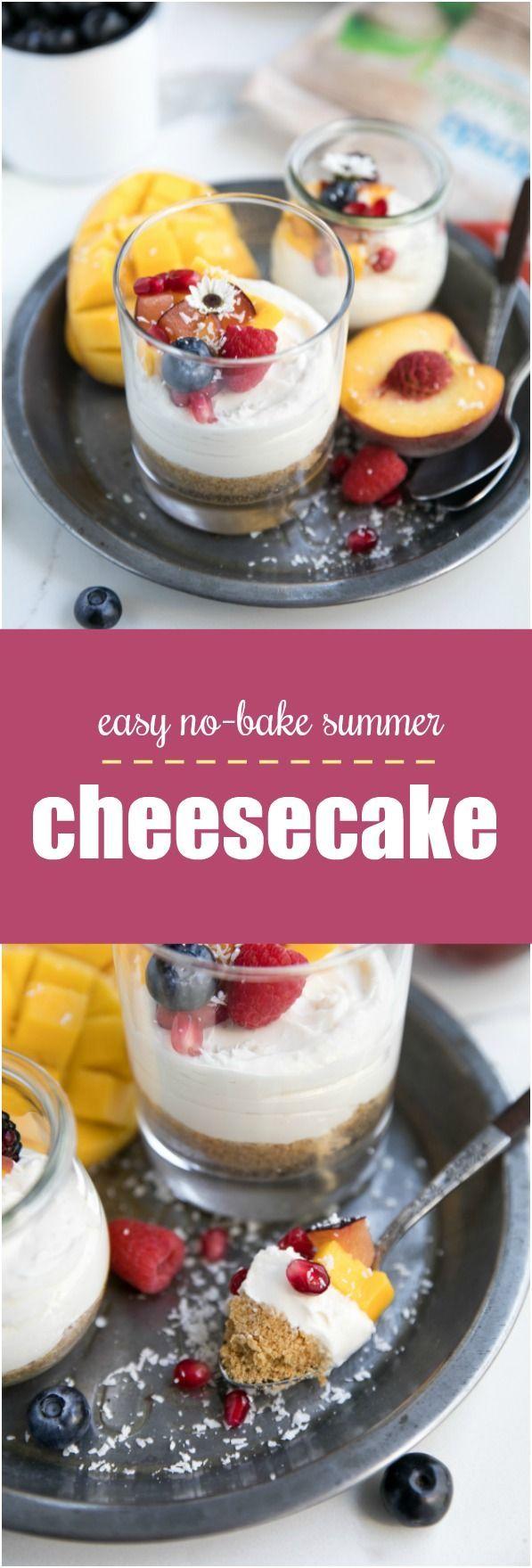 Easy No-Bake Summer Cheesecake with Less Added Sugar #SplendaSweeties #SweetSwaps #sponsored @splenda