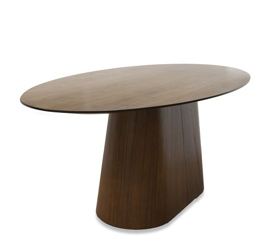 Mesa jantar oval conne cinamomo castanho 200x100 dining for Table 200x100