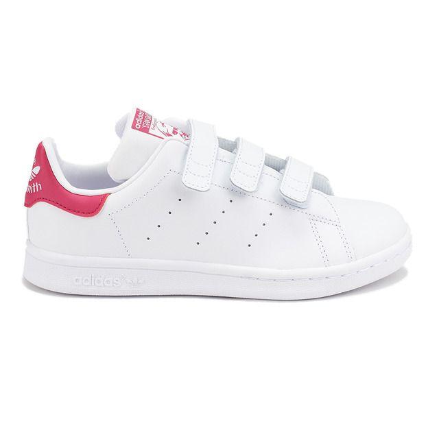 Guiño cera Práctico  adidas Originals - Zapatillas de piel de niña Stan Smith Adidas Originals  en color blanco con triple velcro | Stan smith, Adidas stan smith,  Zapatillas