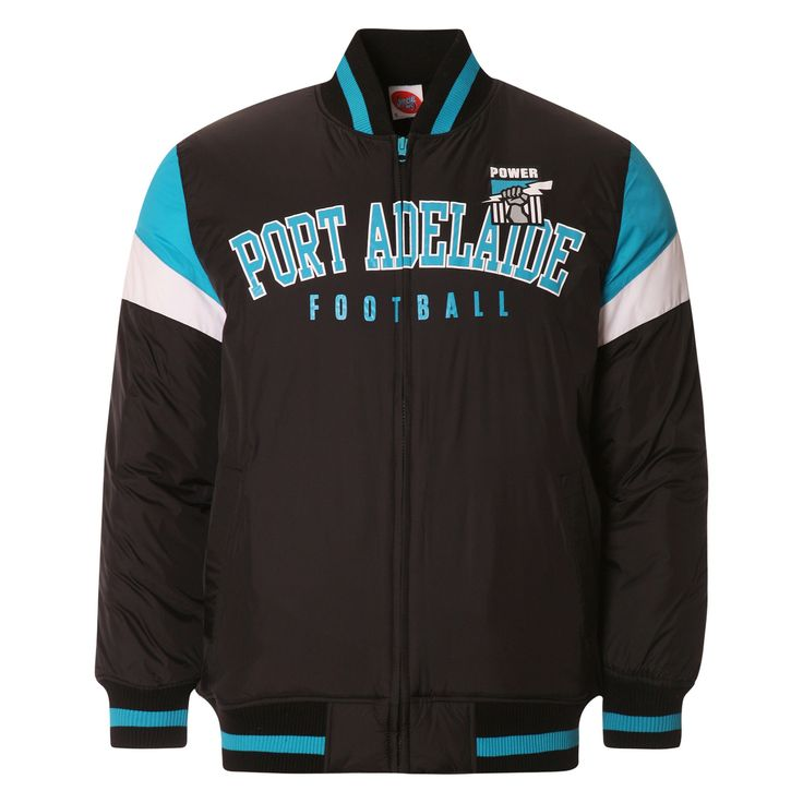 AFL Mens Fan Varsity Jacket Port Adelaide Power