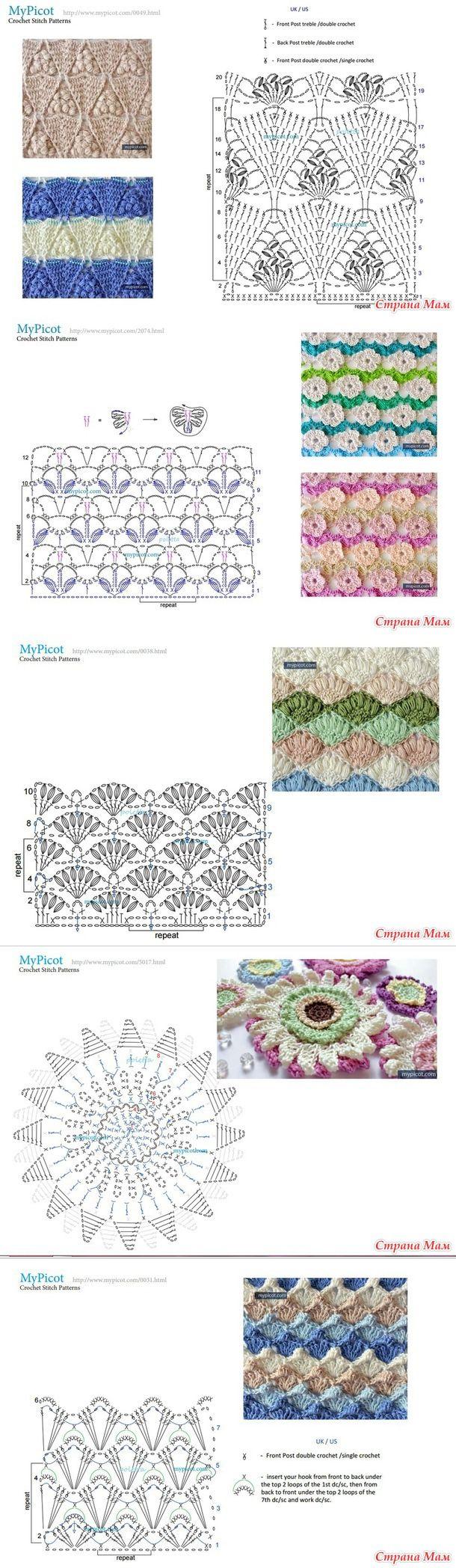 1221 besten Handarbeiten Häkeln Muster Bilder auf Pinterest ...