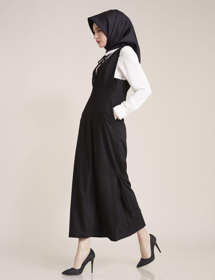 Gömlek Kombinli Elbise Siyah B7 23023