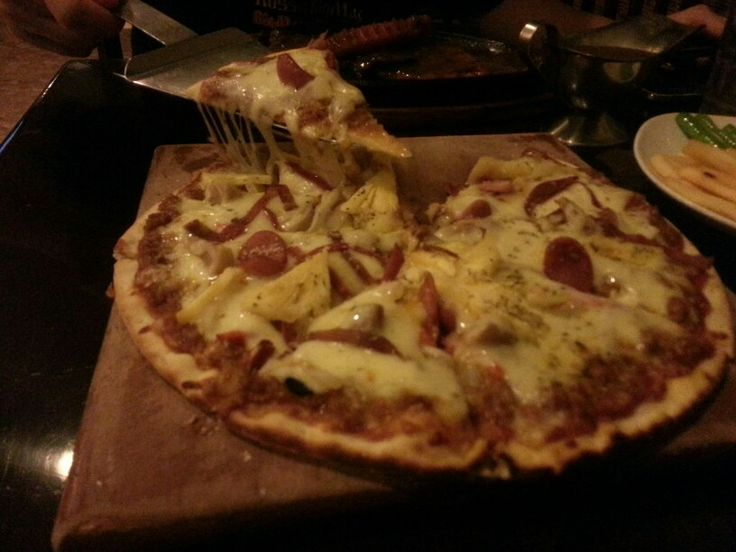 #malibu #pizza with #doubled #cheese
