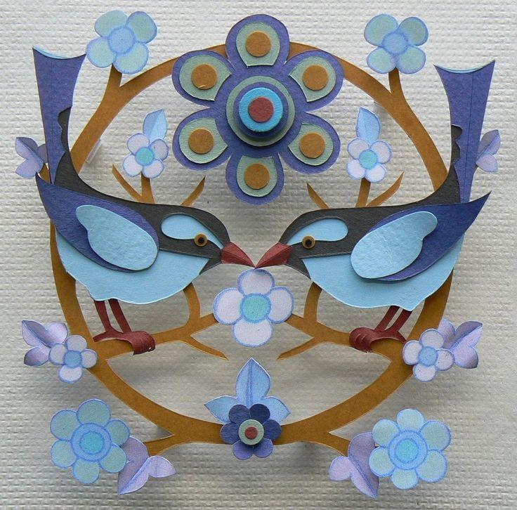 Bluebird Garland - Helen Musselwhite