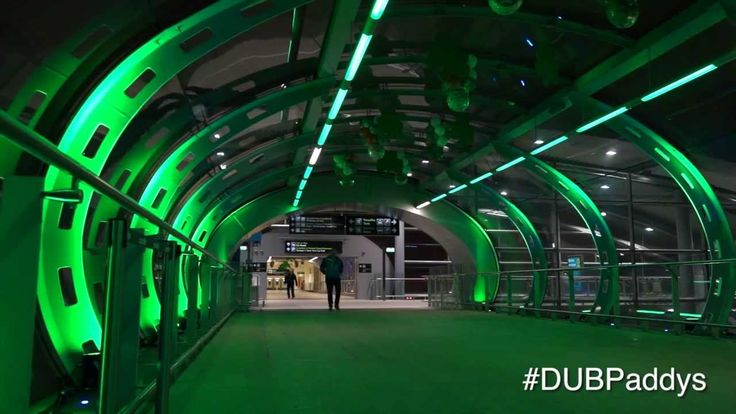 Everything's Gone Green at Dublin Airport We have greened both terminals in preparation for Saint Patrick's Day and we have music to welcome our visitors.