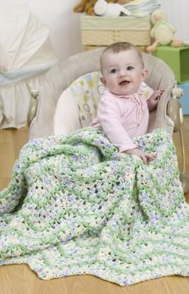 Super cute crochet baby afghan.  Wouldn't this make a cute gift for a baby shower?  Free pattern available.