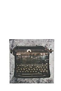 RETRO TYPEWRITER 40X40 WALL ART