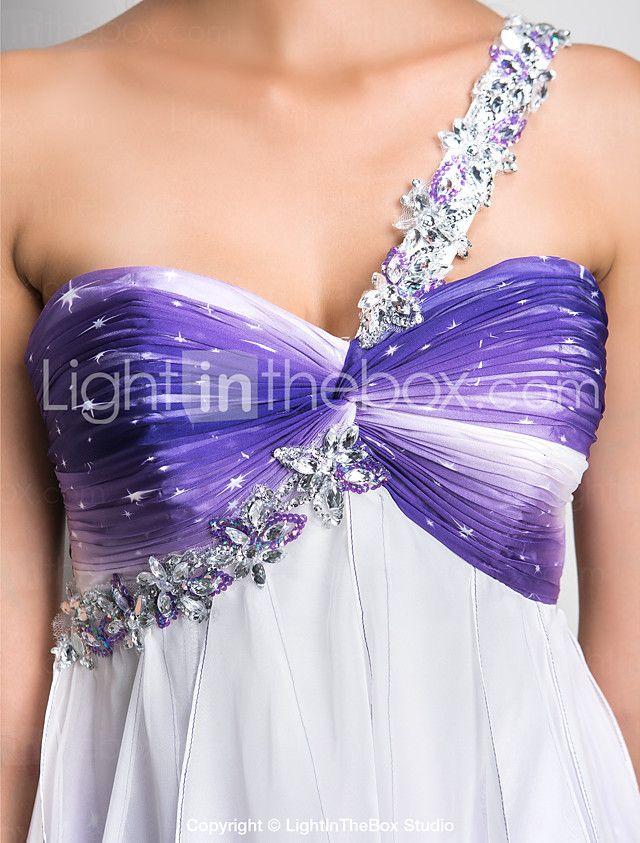 Vestido Festa de Coquetel/Baile de Formatura/Baile/Vestidos de 15 Anos Linha-A/Princesa Assimétrico Mini Chiffon Tamanhos Grandes de 2017 por $99.99