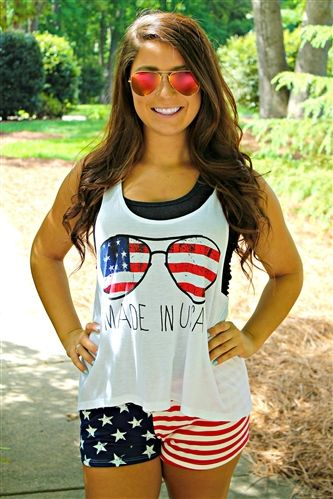 White Made In USA Tank ($24.99) #southernfriedchics