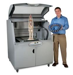"The ZPrinter 850 has a HUGE build box 20"" x 15"" x 9"" and prints at 600x540 dpi."
