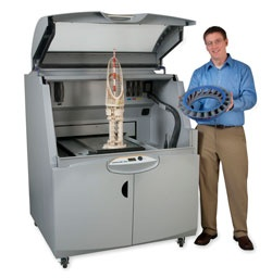 "The ZPrinter 850 has a HUGE build box 20"" x 15"" x 9"" and prints at 600x540 dpi."