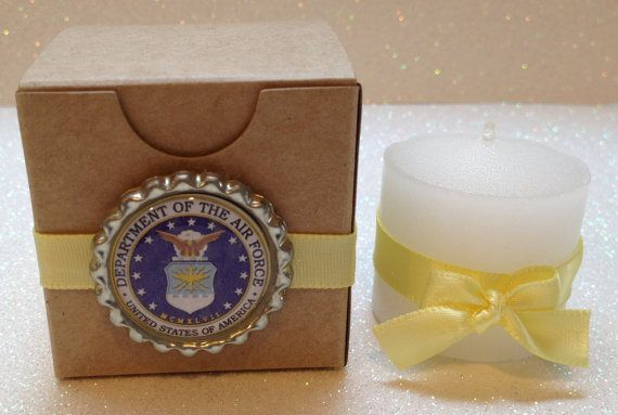 10 US Air Force Boxes Amp Candle Favors Air Force Wedding Decorations Air Force Theme Party And
