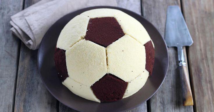 Recette - Gâteau ballon de foot en pas à pas
