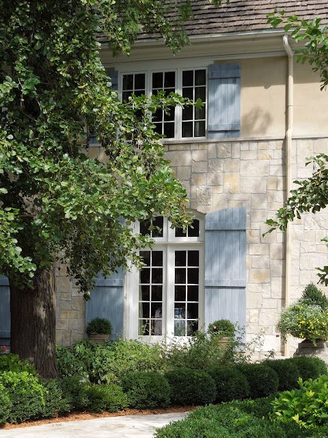 light blue paint on shutters -Ginny Magher's home in France...