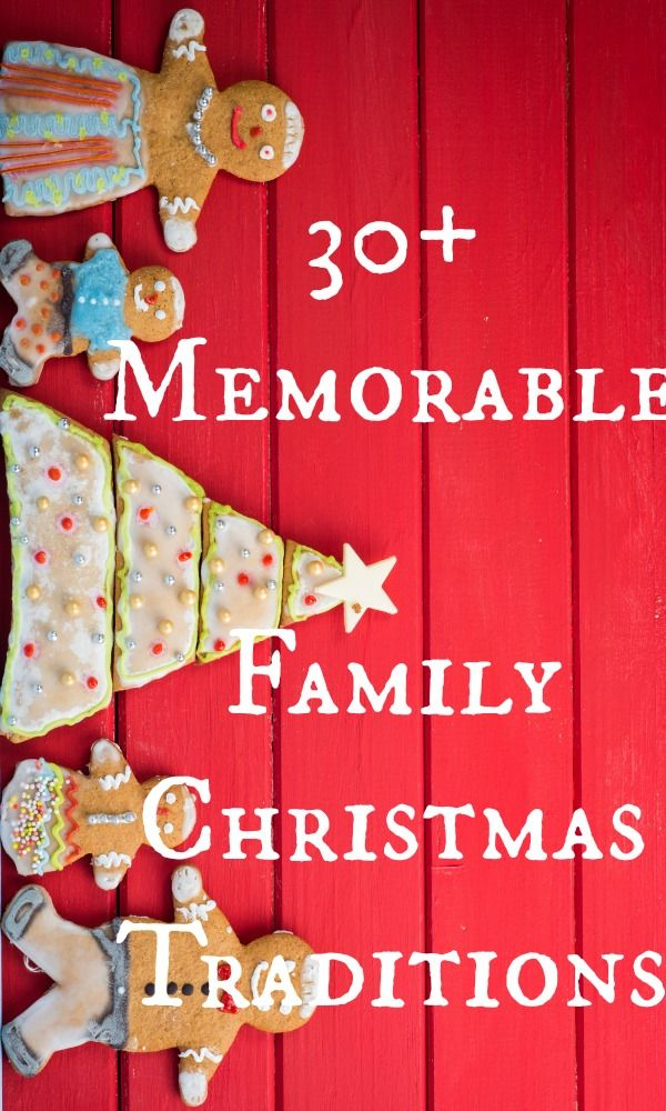I love Christmas traditions! Here are 30+ memorable family Christmas traditions that will create a lifetime of memories for your family.