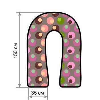 Купить подушку для беременных U 340 с шариками, (эконом)