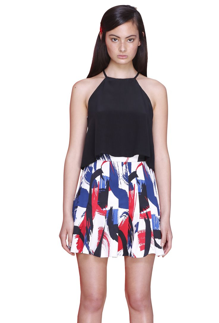 SILK A-FRONT TANK  #byjohnny #abstrACTION #SPRING2015 #AUSTRALIANFASHION