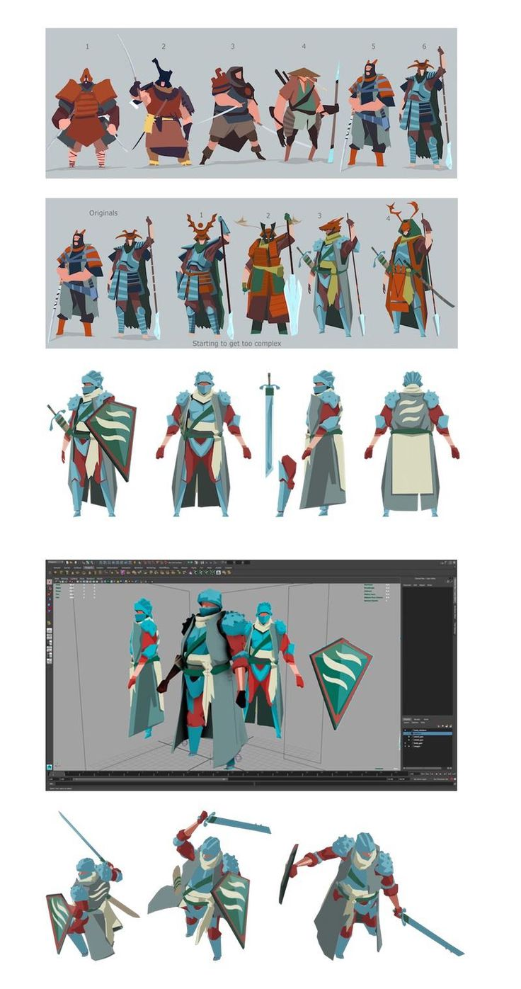 """Chris Campbell on Twitter: """"Read about the Knight character going from concept to 3d model to 2d sprite @ http://t.co/1HTMDOJMJx #indiedevhour http://t.co/RCj7MvYst9"""""""